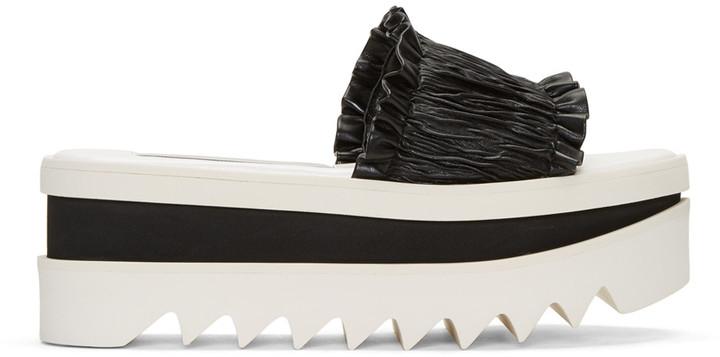 Stella McCartney Black Ruched Sandals