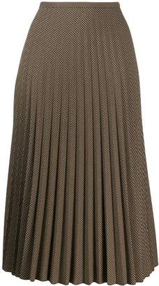 Piazza Sempione pleated houndstooth skirt