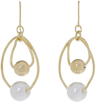 Faux Pearl Oval Drop Earring GJEL033M