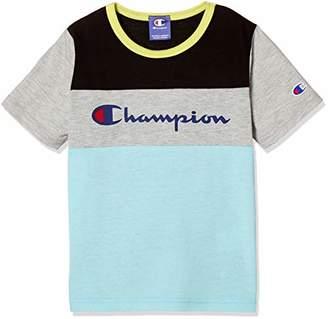 Champion (チャンピオン) - [チャンピオン] ブロッキング半袖Tシャツ CE7293 ブラック 日本 100 (日本サイズ100 相当)
