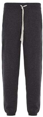 Allude Drawstring Wool Blend Track Pants - Mens - Charcoal
