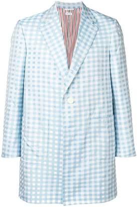 Thom Browne Small Gingham Sack Overcoat