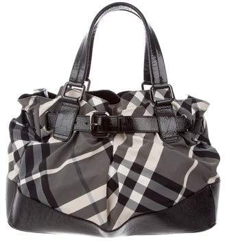 Burberry Large Beat Check Beaton Tote