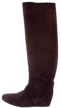 Lanvin Suede Over-The-Knee Boots