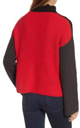 RDI Colorblock Mock Turtleneck