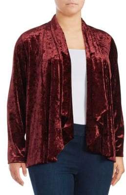 Vince Camuto Plus Draped Velvet Cardigan
