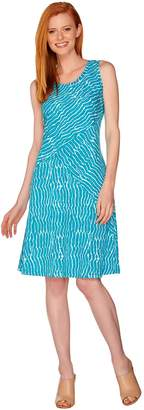 Halston H By H by Regular Printed Knit Tank Dress