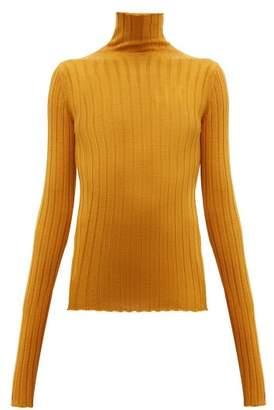 Petar Petrov Karen Merino Wool High Neck Sweater - Womens - Orange