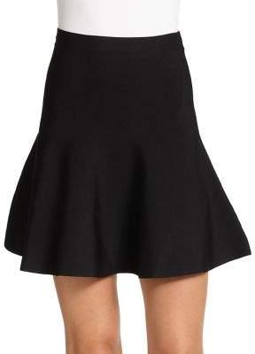 BCBGMAXAZRIA Ingrid Ponte Knit Fit-&-Flare Skirt