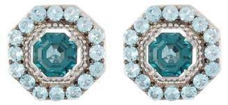 Judith Ripka Sterling Silver Casablanca Button Earrings