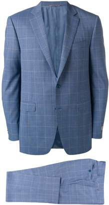 Canali check suit jacket