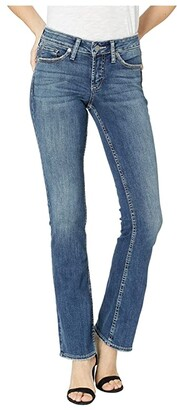 Silver Jeans Co. Suki Mid-Rise Curvy Fit Slim Bootcut Jeans in Indigo L93606SSX345