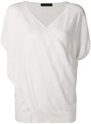 Fabiana Filippi wrap-style cashmere top