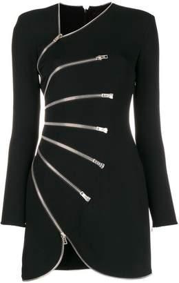 Alexander Wang zip detailed fitted dress