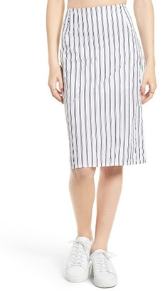 Women's Obey Chambers Stripe Skirt $55 thestylecure.com