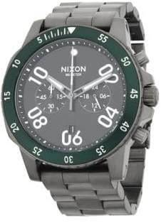 Nixon Distressed Stainless Steel Bracelet Watch