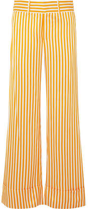 Maggie Marilyn - Endless Optimist Striped Satin-twill Wide-leg Pants - Marigold
