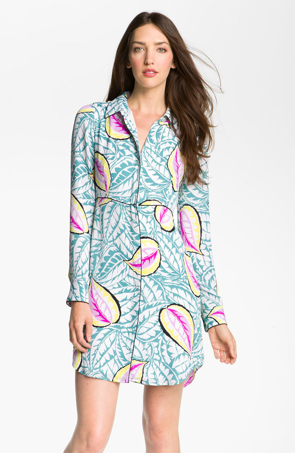 Theory 'Waldra - Caribbean' Print Shirtdress