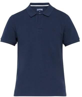 Vilebrequin Logo Embroidered Cotton Pique Polo Shirt - Mens - Navy