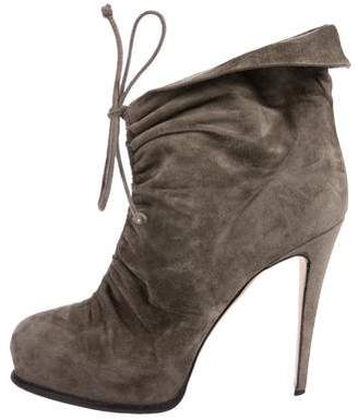 Brian Atwood Suede Ankle Booties