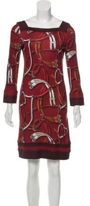 Gucci Equestrian Print Sheath Dress