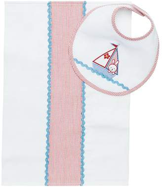 Elegant Baby Perfect Shower Gift Burp Cloth and Bib Set, Nautical Girl