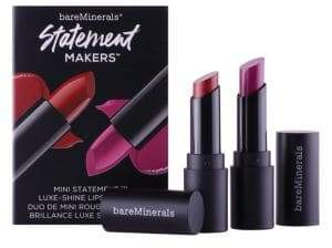 bareMinerals Statement Makers Mini Statement Luxe-Shine Lipstick Duo Set