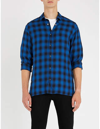 The Kooples Check-pattern relaxed-fit woven shirt