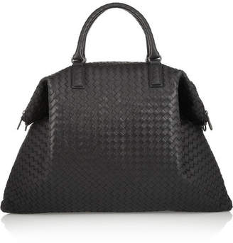 Bottega Veneta Convertible Intrecciato Leather Tote - Black