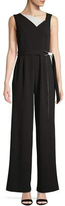 Calvin Klein Wide-Leg Stretch Jumpsuit