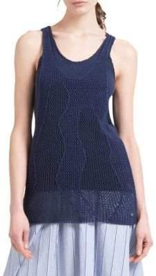 Donna Karan Crocheted Tank Top