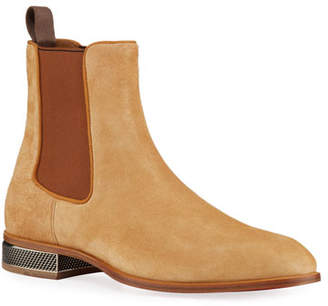 Christian Louboutin Men's Samsocool Red Sole Chelsea Boots