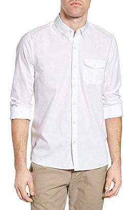 Michael Bastian Men's Long Sleeve Cotton Dobby Shirt