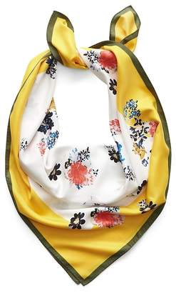 Banana Republic Floral Large Square Scarf