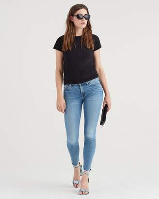7 For All Mankind Luxe Vintage Ankle Skinny with Scallop Hem in Flora