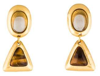 Stephanie Kantis Tiger's Eye & Smoky Quartz Crush Drop Earrings