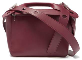 Sophie Hulme Bolt Small Leather Shoulder Bag - Womens - Burgundy