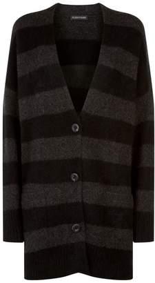 Eileen Fisher Striped Cashmere Cardigan