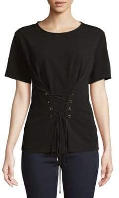 Ellen Tracy Front Lace-Up Top