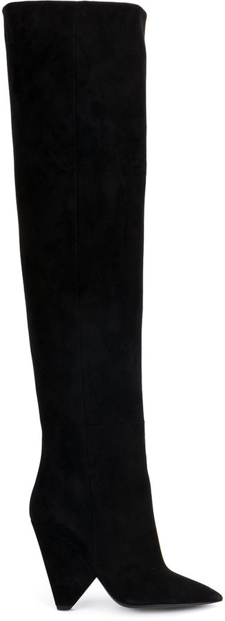 Saint Laurent Niki 105 thigh high boots
