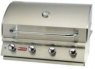Bull Outdoor Products Bull Lonestar 4 Burner 30'' Stainless Steel Gas Barbecue Grill Head, Natural Gas