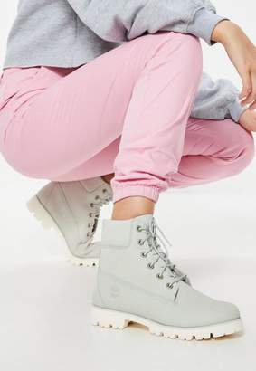 Missguided Timberland Blue Flower Nubuck Heritage Lite 6 Inch Boot