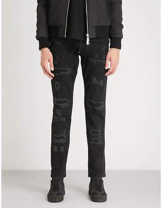 Philipp Plein Distressed regular-fit straight jeans
