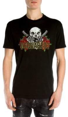 DSQUARED2 Guns & Roses Skull Tee