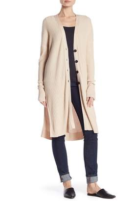 John & Jenn Ribbed Side Split Cardigan