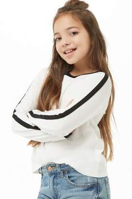 Forever 21 Girls Striped-Trim Top (Kids)