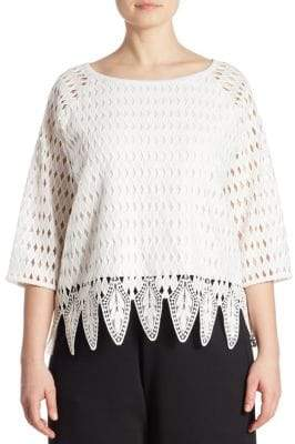Joan Vass Plus Crocheted Blouse