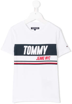 Tommy Hilfiger Junior printed logo T-shirt