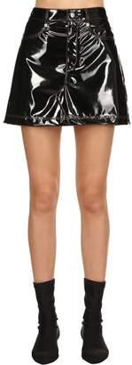 Sonia Rykiel Faux Patent Leather Skirt
