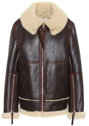 Acne Studios Shearling and leather jacket